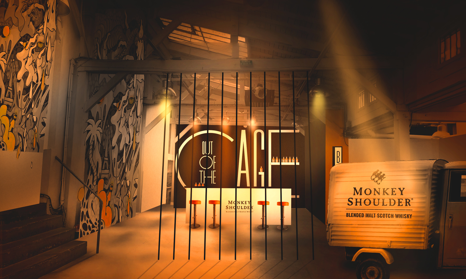 Bar Out of The Cage-Monkey Shoulder du 26 au 31 octobre