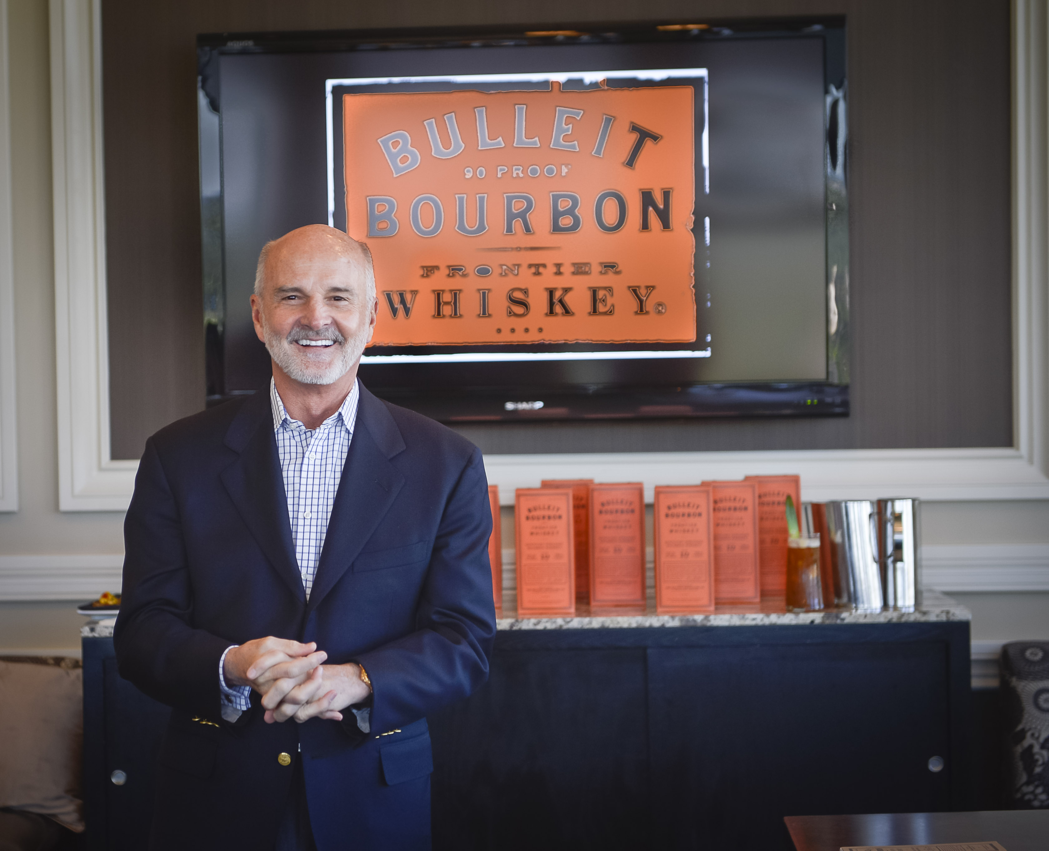 Tom Bulliet, the great-great grandson Augustus Bulliet the creator of Bulliet bourbon, March 5, 2013. Photo by Roberto Gonzalez/Orlando Magazine